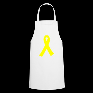 Yellow ribbon WR symbol for solidarity - Cooking Apron