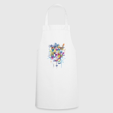 colorful scaffolding - Cooking Apron