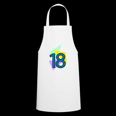 eighteenth birthday 18 years triangles - Cooking Apron