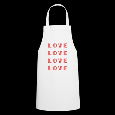 Love Love Love Love Shirt Idea de regalo - Delantal de cocina