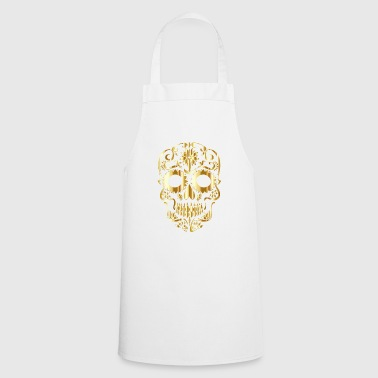 golden skull - Cooking Apron