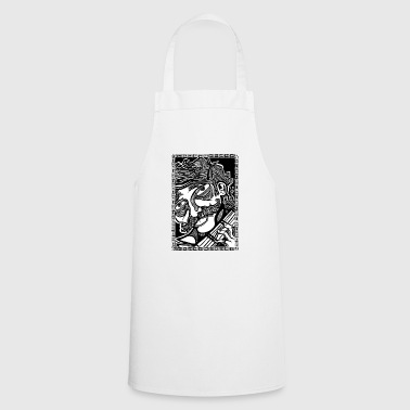 mustache music - Cooking Apron
