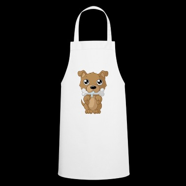 Nibbling cartoon dog - Cooking Apron