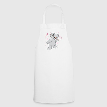 Happy enamored hippo - Cooking Apron