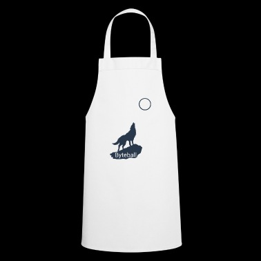 Byteball Crypto Wolf Howls Moon at Gift Blue - Cooking Apron