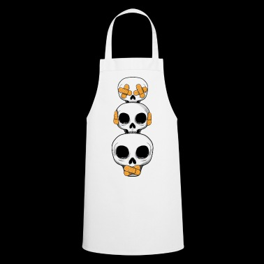 Cute Skulls No Evil II - Cooking Apron