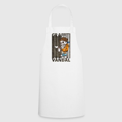 Cool Funny Graffiti Vandal.Graffiti Art. Skeleton - Cooking Apron