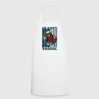 Cool Funny Graffiti Vandal Art.Gorilla Hipster. - Cooking Apron