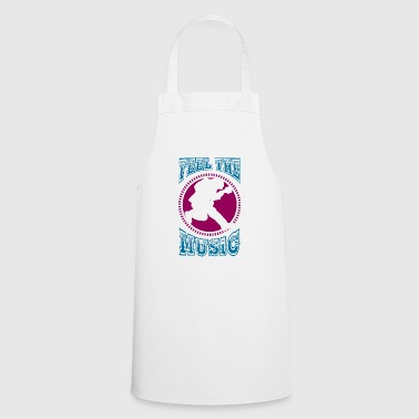 Feel the music - guitarist - Cooking Apron