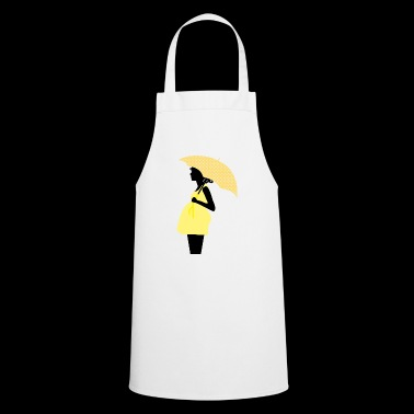 Mother with baby belly / retro - Cooking Apron