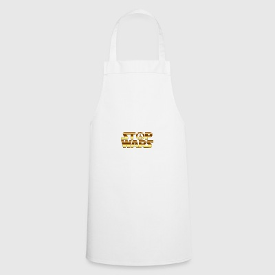 golden stop the war - Cooking Apron