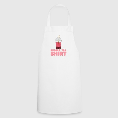 Tea Shirt -  - T-Shirt with Bubble Tea - Cooking Apron