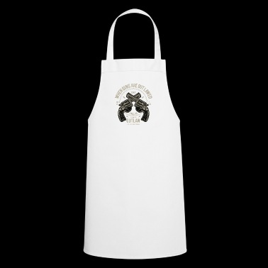 Revolver gun weapon knife Christmas gift - Cooking Apron