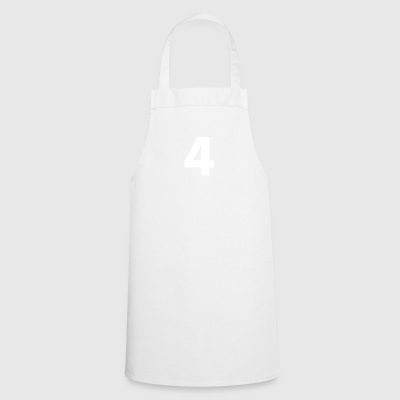 Number 4, number 4, 4, four, number four, four - Cooking Apron