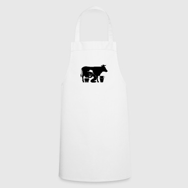 A Farmer Milking A Cow - Cooking Apron