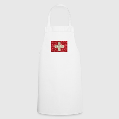 Swiss flag glitter home tradition flag - Cooking Apron