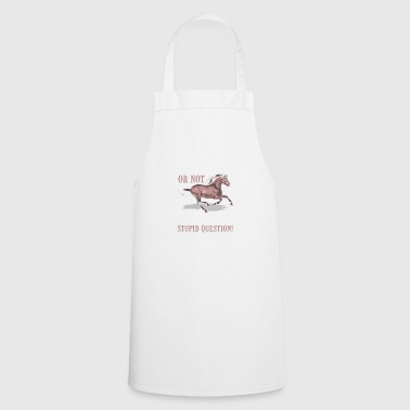 Horse: to ride or not to ride - Cooking Apron