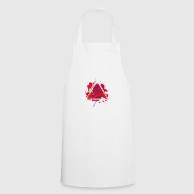Red rose triangle - Cooking Apron