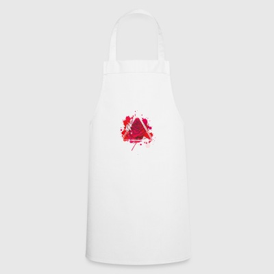 Triangle Rose rouge - Tablier de cuisine