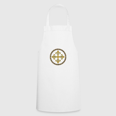 Gold celtic cross - Cooking Apron