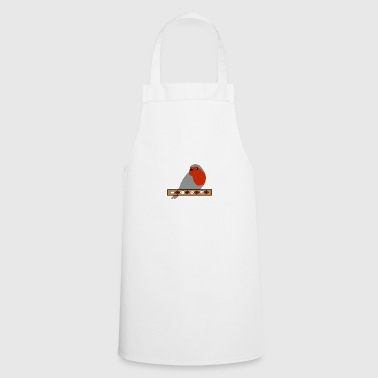 Red throat with banner - Cooking Apron