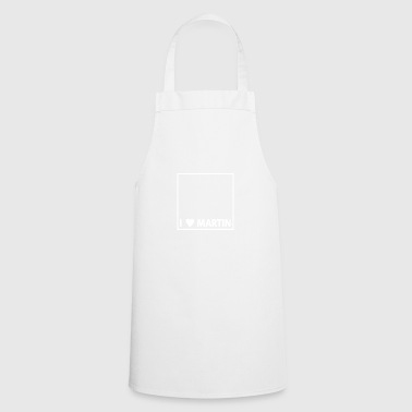 I heart Martin white - Cooking Apron