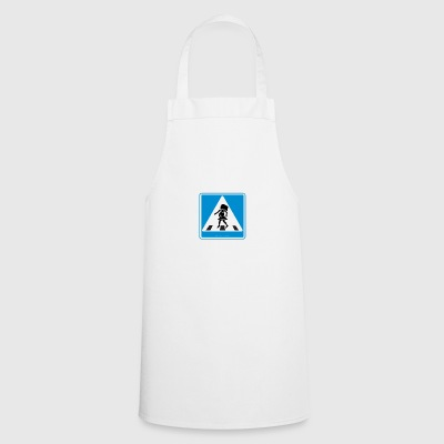 Traffic sign: Pregnancy blue / pregnancy blue - Cooking Apron