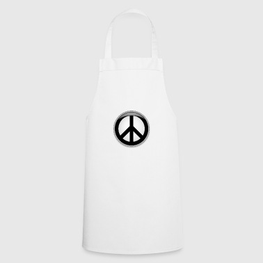 Peace button large - Cooking Apron