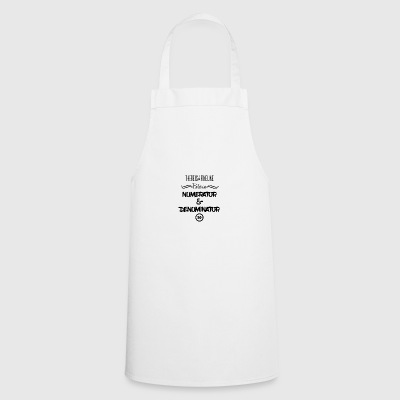 There is a fine line - numerator and denominator - Cooking Apron