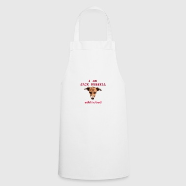 Jack russel addicted red - Cooking Apron