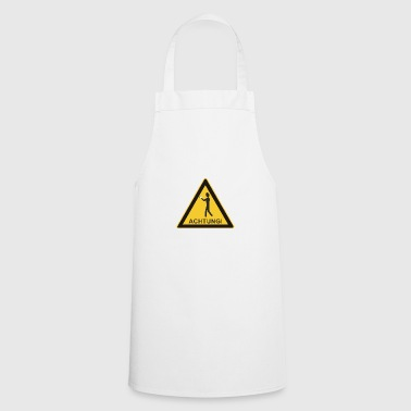 Note Sign - Smartphone User - Cooking Apron