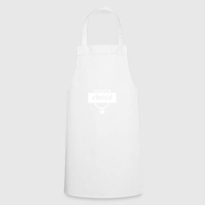 Heartclosed wite - Cooking Apron