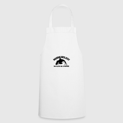 marine biology porpoise - Cooking Apron