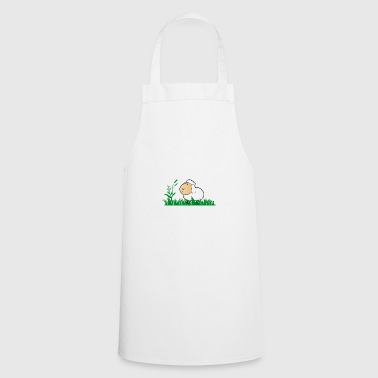 Funny sheep in green grass - Cooking Apron
