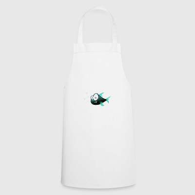 Fish with teeth comic shark - Cooking Apron