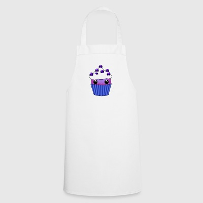 Blueberry Kawaii cupcake - Cooking Apron