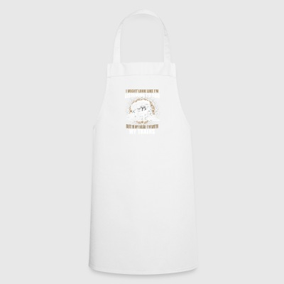 In my head im with my trains - Cooking Apron