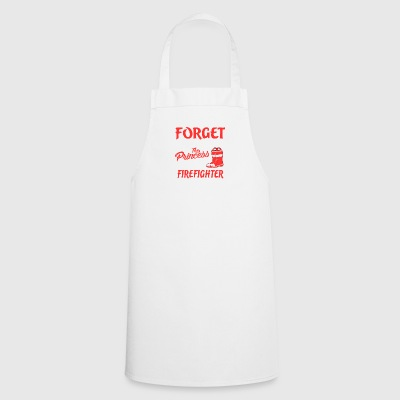 Firefighter - Princess with firefighter boots - Cooking Apron
