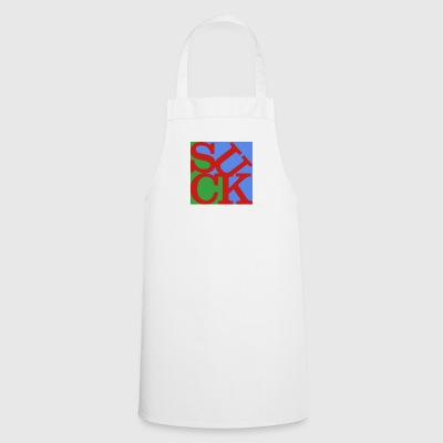 Suck Homage to Robert Indiana colorful - Cooking Apron