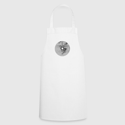 White Stencil Heart - Tablier de cuisine