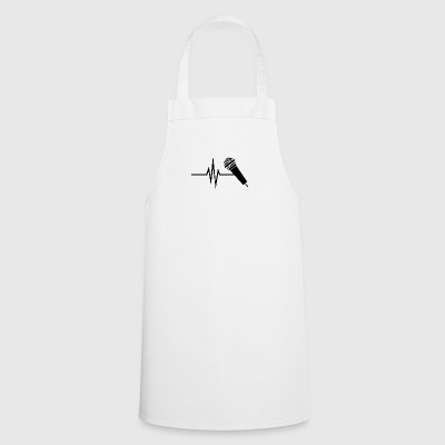 My heart beats for singing - music singing micro - Cooking Apron
