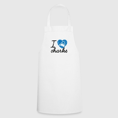 Scuba Diving / Diving: I Love Sharks - Cooking Apron