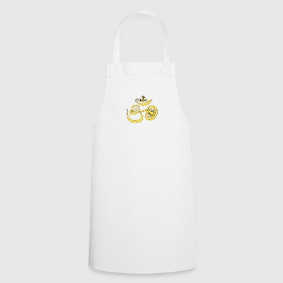 Symbol of Buddhist OM with sun - Cooking Apron