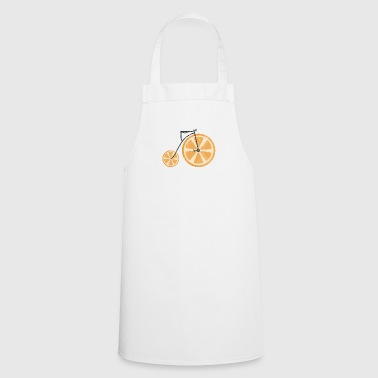 Fruit / Fruit: orange - orange bicycle - Cooking Apron