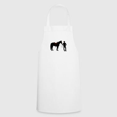 Cowboy with horse - Cooking Apron