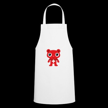 Bear I love d'Schwiiz dialect Schwizerdütsch - Cooking Apron