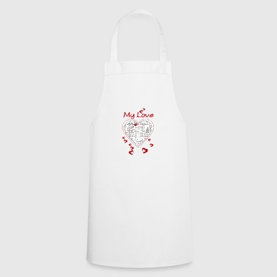 Heart labyrinth - Cooking Apron