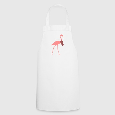 Flamingo with scarf - Cooking Apron