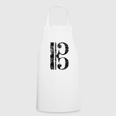 Violin key, tenor key, viola key - Cooking Apron