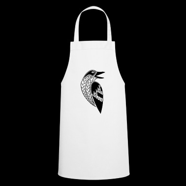 tribal raven tattoo (black) - Cooking Apron
